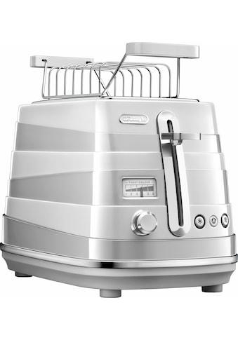 De'Longhi Toaster »Avvolta CTA 2103.W«, 2 kurze Schlitze, für 2 Scheiben, 900 W kaufen
