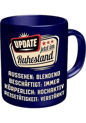 Rahmenlos Kaffeetasse mit lustigem Rentner - Spruch im Geschenkkarton kaufen