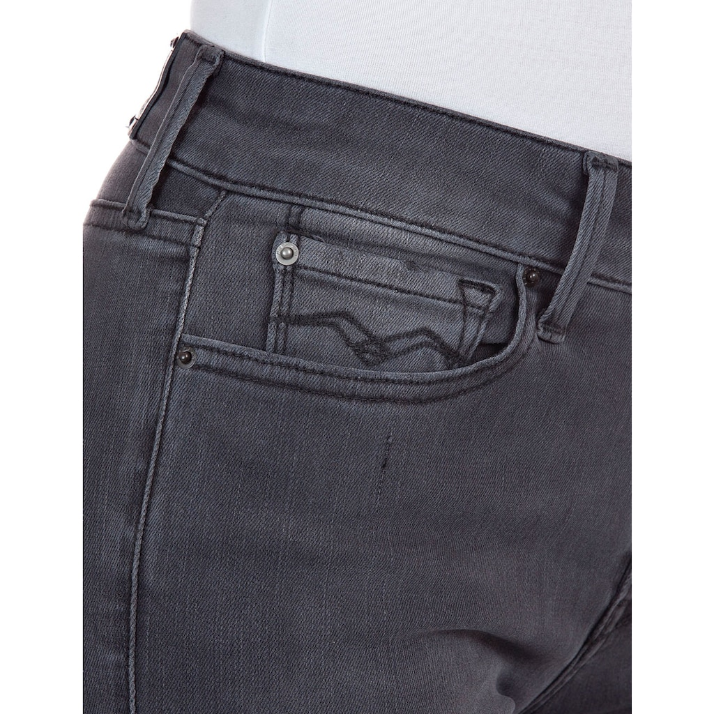 Replay Skinny-fit-Jeans »New Luz«, in dezenter Used-Optik