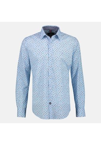 LERROS Langarmhemd, mit Minimal-Alloverprint und Kent-Kragen kaufen