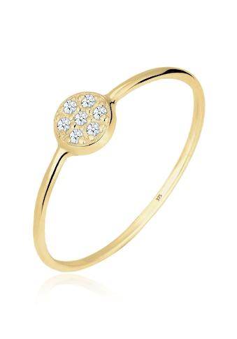 Elli Diamantring »Kreis Scheibe Diamant 0.035 ct. 375 Gelbgold« kaufen