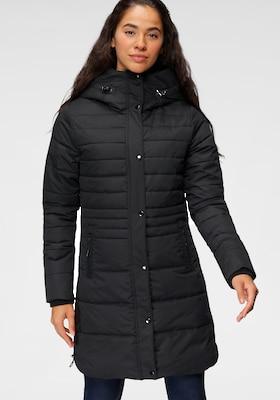 schwarzer Casual-Wintermantel