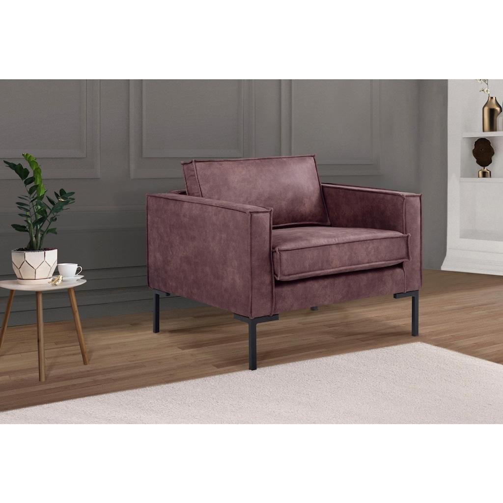 Leonique Sessel »Drace«, mit großzügiger Sitzfläche, im geradlinigen Design