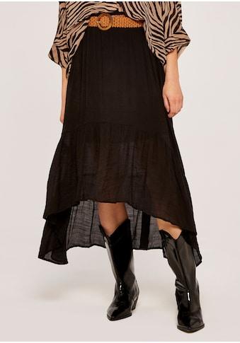 Apricot Maxirock »Shark Hem Crinkle Belted Skirt«, mit Flechtgürtel kaufen