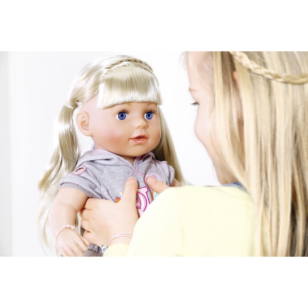 Baby Born Babypuppe »Soft Touch Sister 43 cm, blond«, interaktiv