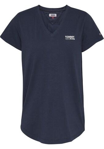 TOMMY JEANS V-Shirt »TJW LOGO SLUB TEE«, mit Tommy Jeans Logo-Schriftzug auf der Brust kaufen