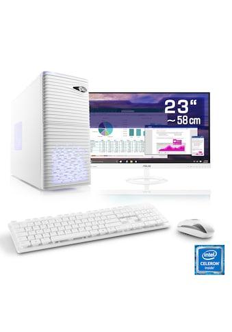 "CSL Office PC Set | Intel QuadCore | Intel HD | 8 GB RAM | 23"" TFT »Speed T1912 Windows 10 Home« kaufen"