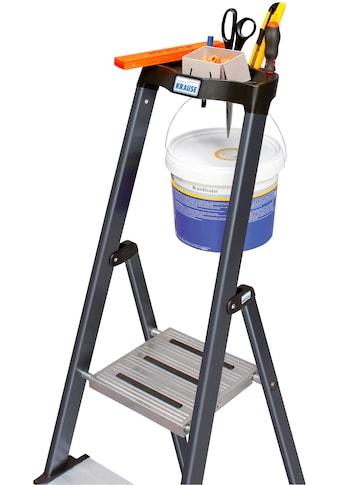 KRAUSE Stehleiter »Securo«, Alu eloxiert, 1x5 Stufen, Arbeitshöhe ca. 305 cm kaufen