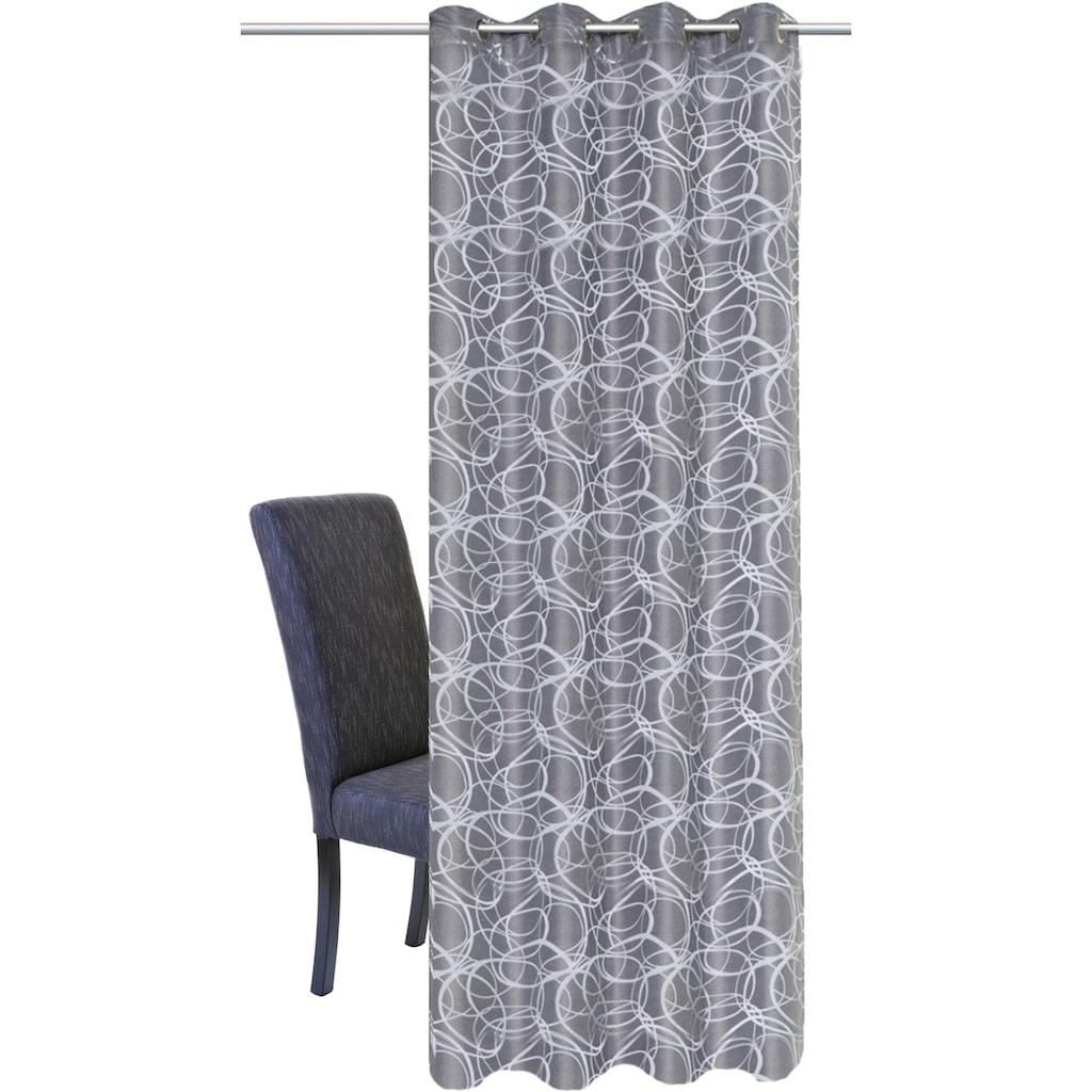 HOME WOHNIDEEN Vorhang »LENNY«, HxB: 245x140, Dekostoff Jacquardgemustert