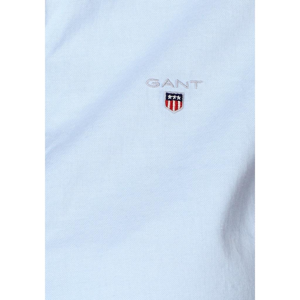 Gant Hemdbluse, mit dezenter Logostickerei