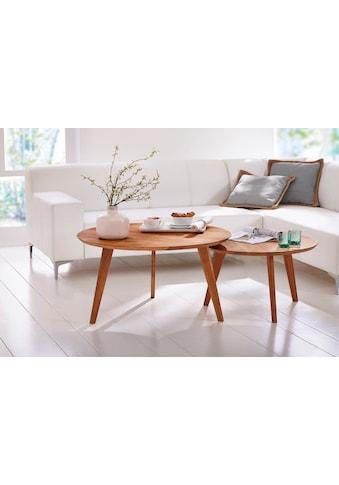 Premium collection by Home affaire Beistelltisch »Olpe«, aus Massivholz, hochwertig Verarbeitet kaufen