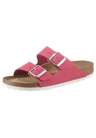 Birkenstock Pantolette »Arizona Soft«, aus Nubukleder, Schuhweite: schmal kaufen
