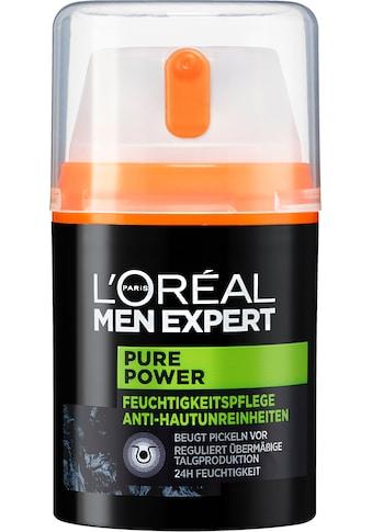 L'ORÉAL PARIS MEN EXPERT Feuchtigkeitscreme »Pure Power«, bekämpft Hautunreinheiten,... kaufen