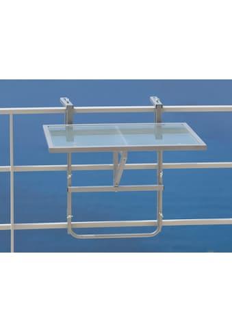 MERXX Balkonhängetisch Stahl/Glas, klappbar kaufen