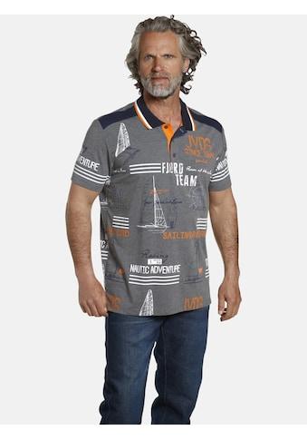 Jan Vanderstorm Poloshirt »SIGURDUR«, Druck im Segel Motiv kaufen
