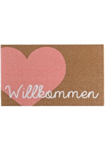 Zala Living Fußmatte »Willkommen Herz«, rechteckig, 7 mm Höhe, Fussabstreifer,... kaufen