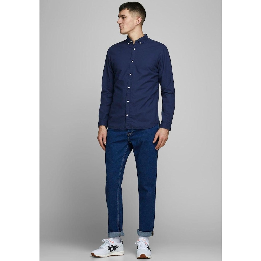 Jack & Jones Leinenhemd »SUMMER SHIRT«, mit Button-down-Kragen