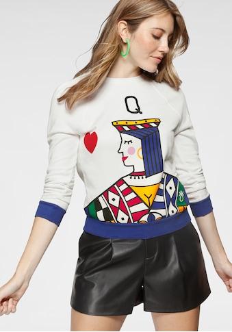 United Colors of Benetton Sweatshirt, mit Logo-Flag in der linken Seitennaht kaufen