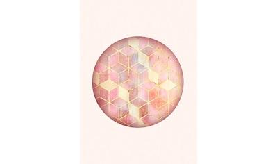 Komar Poster »Mosaik Circle Rosso«, Formen-Kunst, Höhe: 40cm kaufen