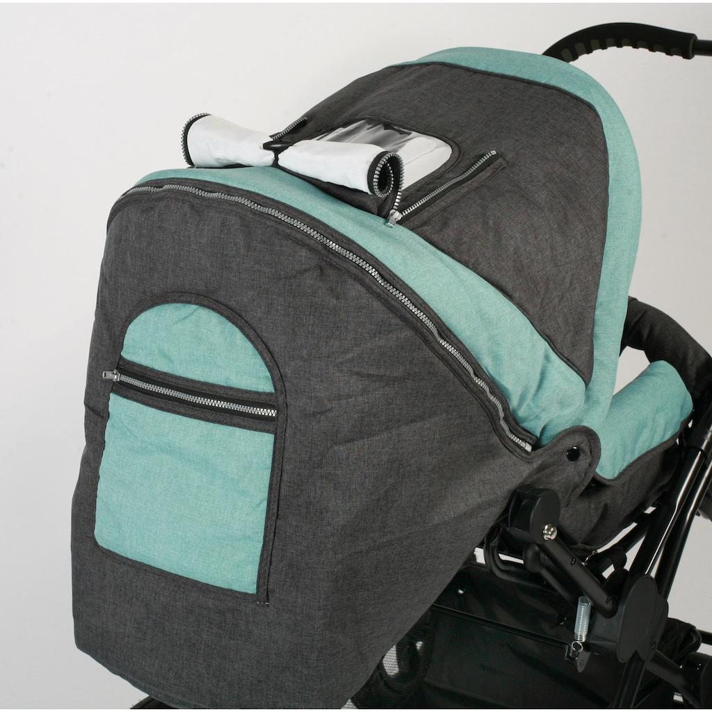 CHIC4BABY Kombi-Kinderwagen »Viva, melange mint«, 15 kg, mit herausnehmbarer Tragetasche