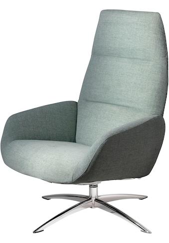 KEBE Relaxsessel »Ergo«, mit mit verchromten Drehfuß Sub4 in Leder oder Struktur fein kaufen