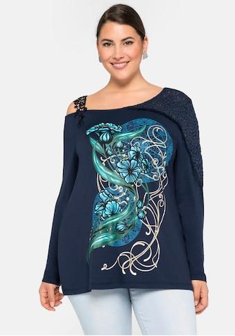sheego by Joe Browns Langarmshirt, in One-Shoulder-Schnittform kaufen