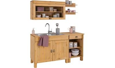 Home affaire Küchen-Set »Oslo«, (5 tlg.), ohne E-Geräte, Breite 150 cm, aus massiver... kaufen