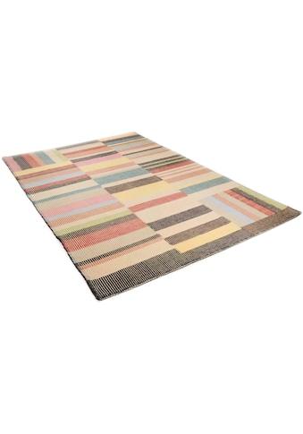 TOM TAILOR Wollteppich »Patch«, rechteckig, 6 mm Höhe, reine Wolle, Bohostyle, handgewebt, Wohnzimmer kaufen