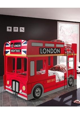 Spielbett roter London Doppeldeckerbus