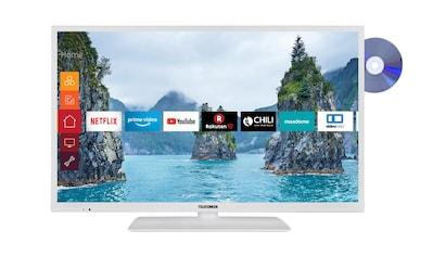 Telefunken LED - Fernseher (32 Zoll, HD ready, SmartTV, DVD, DVB - T2 HD) »XH32G511D - W« kaufen