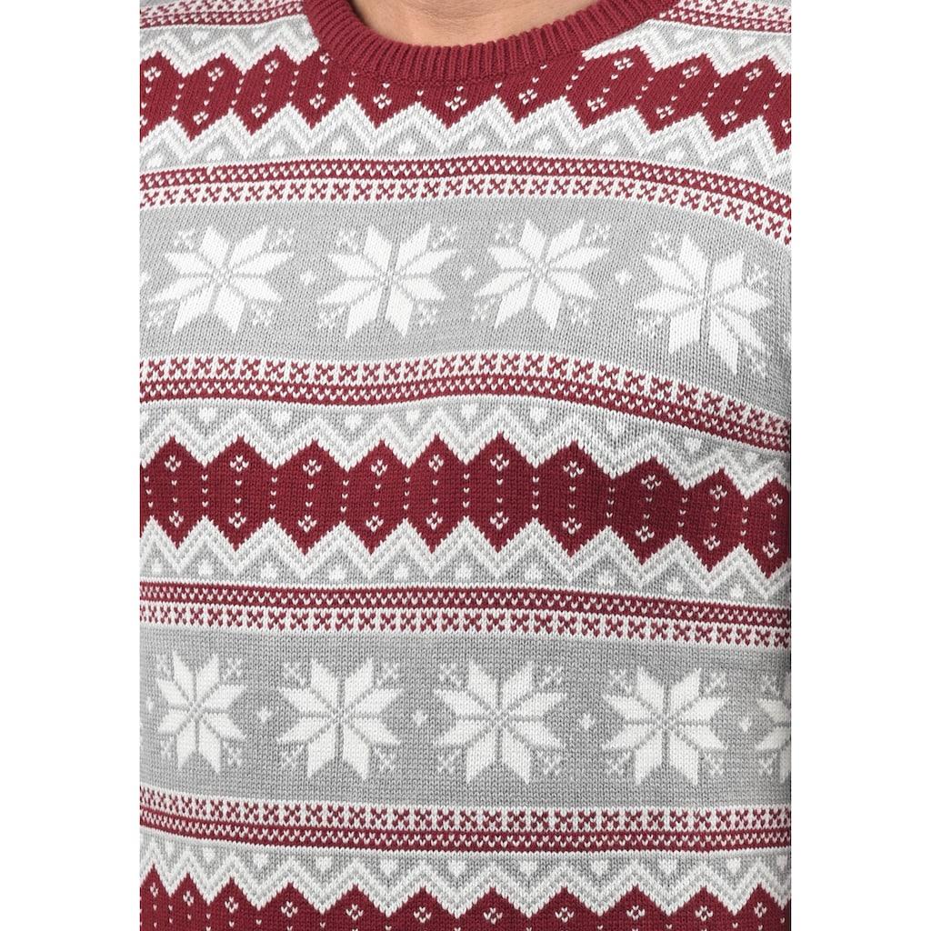 Solid Strickpullover »Winno«, Strickpulli mit Weihnachtsmuster