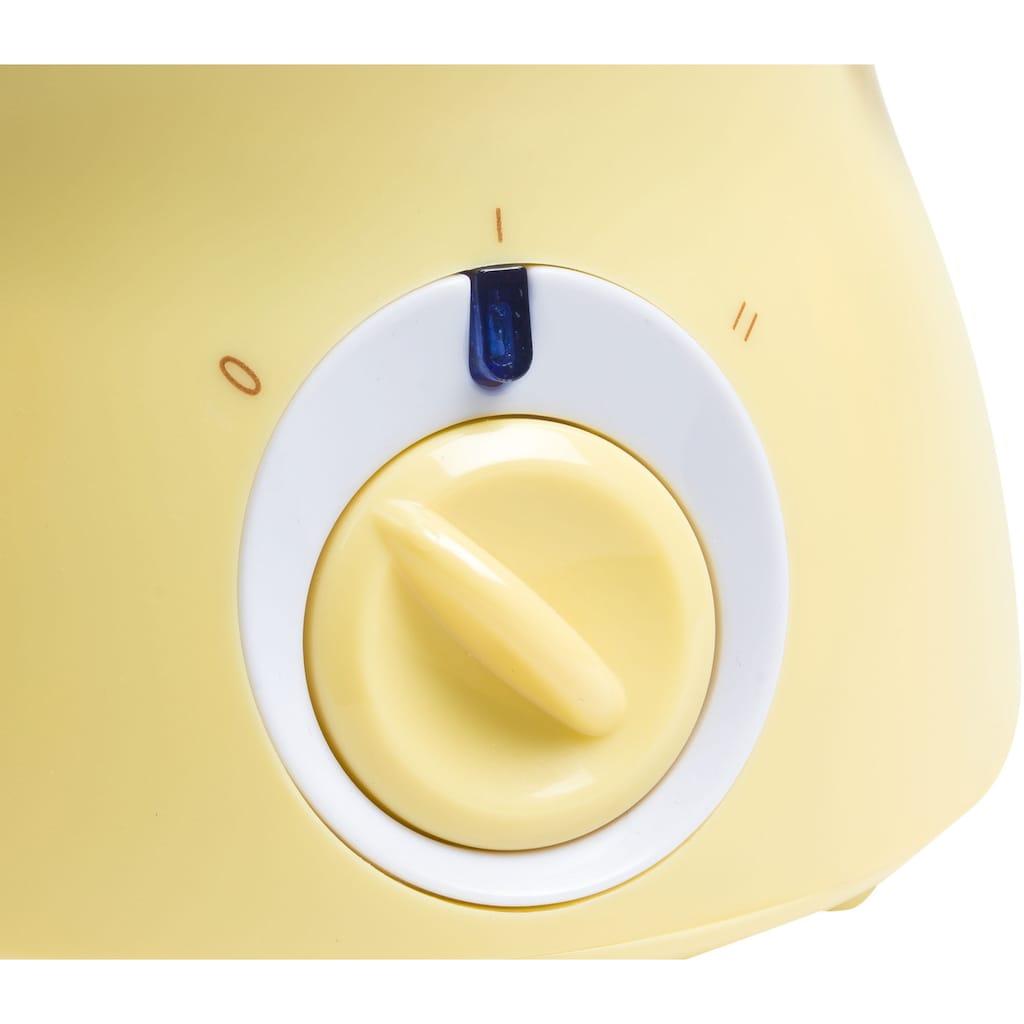 bestron Fondue »Mini-Schokofondue-Set«, für 2 Personen, inkl. 10xSpieße, 10xGabeln und 1xSpachtel, 25 Watt, Gelb