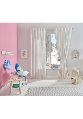 Lüttenhütt Gardine »Streifen«, Kindergardine mit Raffhalter kaufen