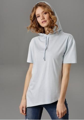 Aniston CASUAL T-Shirt, mit Kapuze und Bindeband kaufen