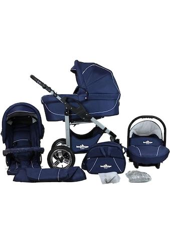 bergsteiger Kombi-Kinderwagen »Capri, marine blue, 3in1«, 15 kg, Made in Europe;... kaufen
