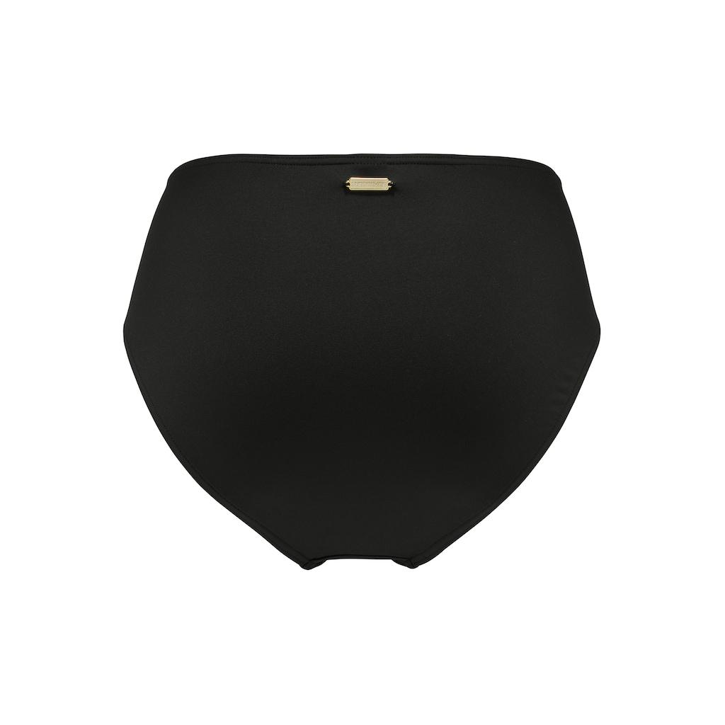 Sunseeker Highwaist-Bikini-Hose »Leaves«, mit Ziergürtel