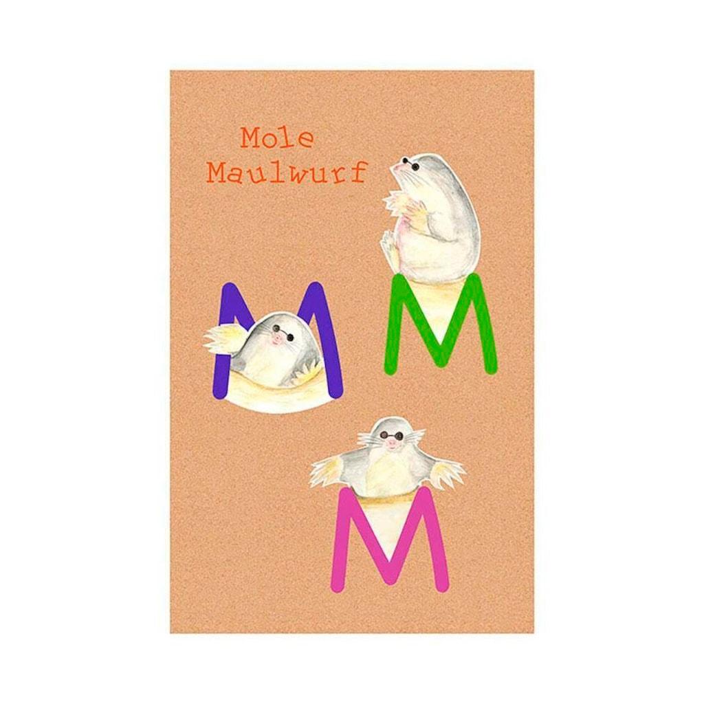 Komar Poster »ABC Animal M«, Buchstaben, Höhe: 70cm