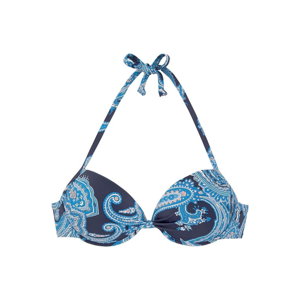 LASCANA Push-Up-Bikini-Top »Boho«, mit Paisleymuster