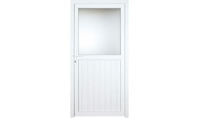 KM Zaun Nebeneingangstür »K606P«, BxH: 108x208 cm cm, weiß, links kaufen