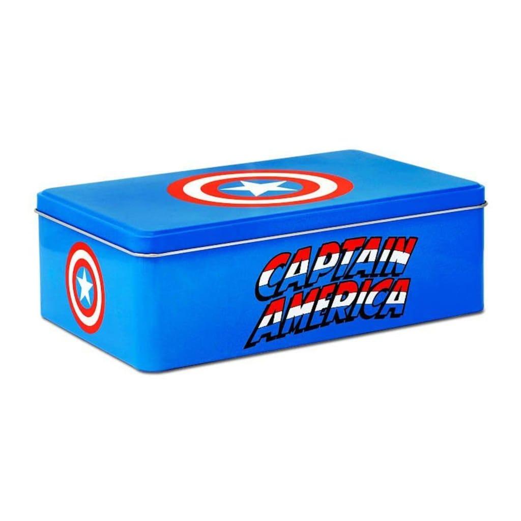 LOGOSHIRT Blechdose mit Captain America-Motiv