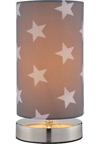 Lüttenhütt Tischleuchte »Steern«, E14, Tischlampe mit Sterne - Stoffschirm Ø 12 cm, grau / hellgrau, Touch Dimmer kaufen