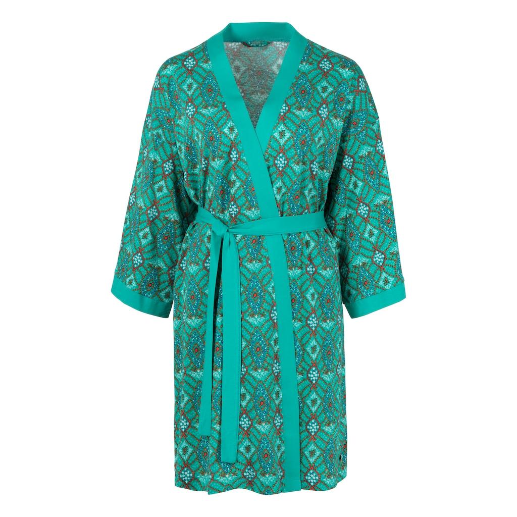s.Oliver Bodywear Kimono, mit Ornamentdruck zum Binden