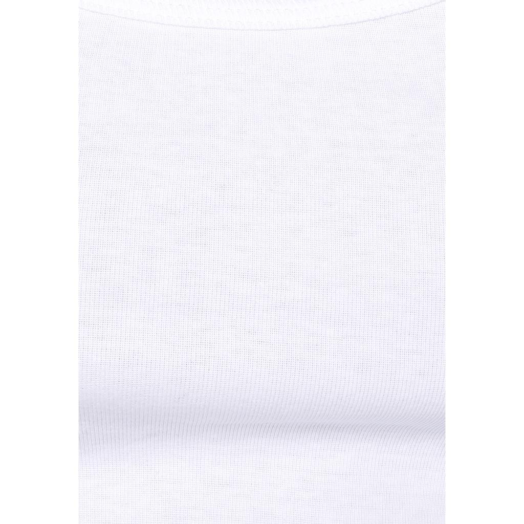 AJC Shirtjacke, Shirtjacke im angesagten Streifenlook oder Uni, im Set mit Top