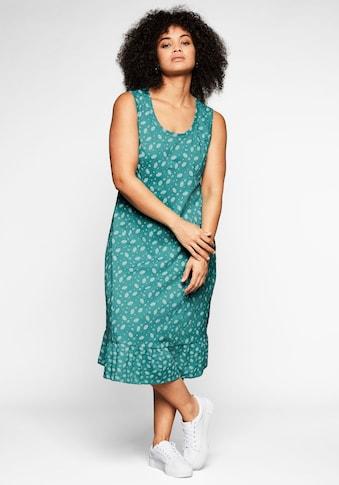 Sheego Jerseykleid, mit Volant am Saum kaufen