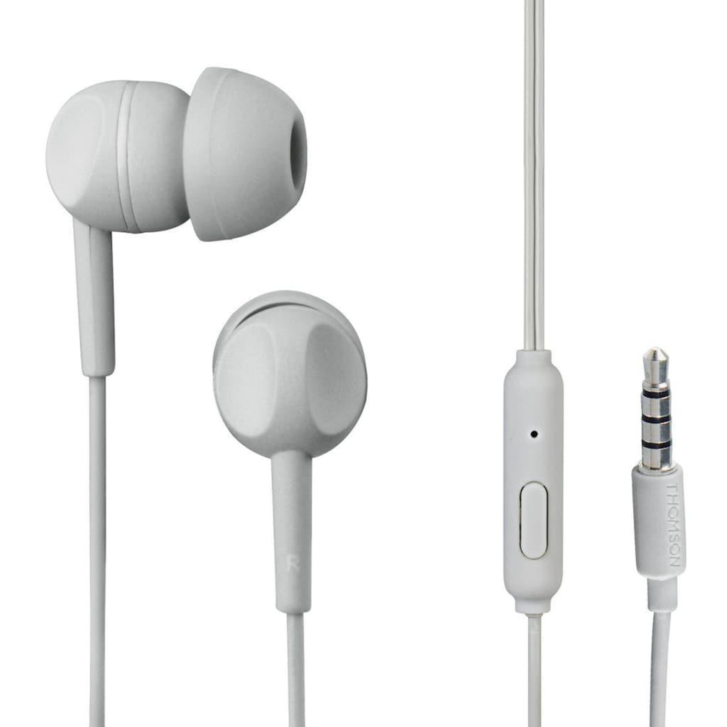 Thomson EAR3005GD Kopfhörer, In-Ear, Mikrofon, Grau