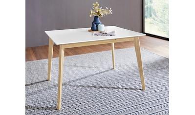 Homexperts Esstisch »Kaitlin«, Breite 120 cm, mit Gestell aus Massivholz kaufen