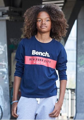 Bench. Langarmshirt »mit Logodruck« kaufen