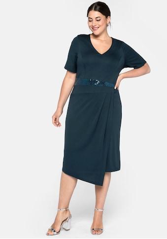 Sheego Jerseykleid, in Wickeloptik kaufen