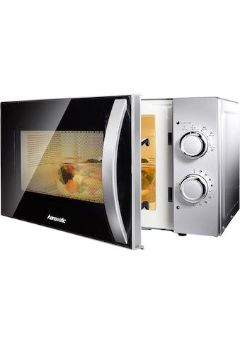 Hanseatic Mikrowelle »634711«, Mikrowelle, 700 W, Auftaufunktion, silberfarben kaufen