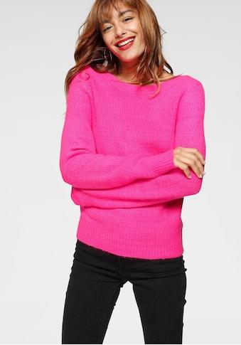AJC Rundhalspullover, in angesagter Neonfarbe und Rückenausschnitt kaufen